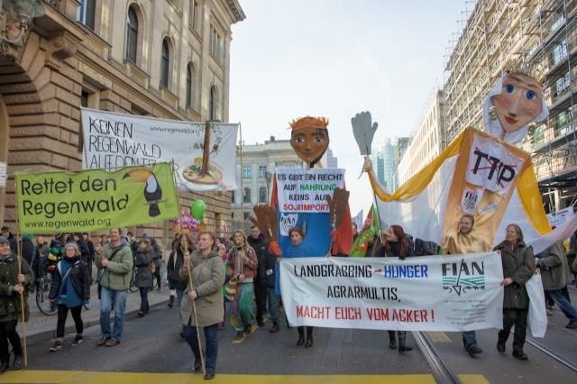 Demo Wir haben es satt 2014 | Copyright: Christine Denck, RdR