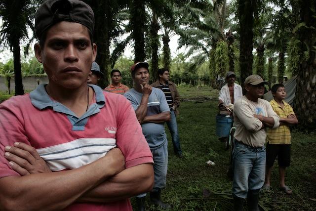 Bauern am Bajo Aguán